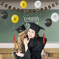 KQ_ Graduation Party Supplies 26 Hanging Swirls Strings Banner Graduation