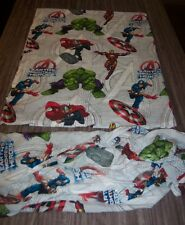 Marvel Comics THE AVENGERS THOR HULK CAPTAIN AMERICA TWIN SIZE SHEET SET FABRIC