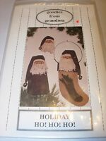 NEW TREE TOPPER PIN STOCKING SANTA CHRISTMAS PATTERN PROJECT HOLIDAY CRAFTS ART