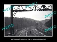 OLD LARGE HISTORIC PHOTO OF GRAFTON WEST VIRGINIA, THE GN RAILROAD TOWER c1950