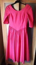 Pink vintage Laura Ashley 50s rockabilly pastel goth party lolita dress sz 10