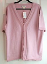 NEW CJ Banks solid  rib knit details button front cardigan sweater 2X  20/22W