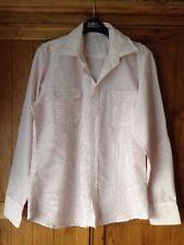 Men's Red And White Striped Primark Shirt Size Medium