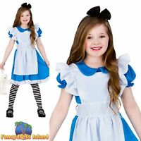 Classic Storybook Alice In Wonderland Fairytale Girls Childs Fancy Dress Costume