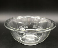 """VINTAGE PYREX 1 qt  7"""" CLEAR GLASS MIXING NESTING ROUND BOWL #  322 PRE-OWNED"""