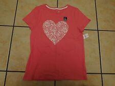BNWT 'GAP KIDS' GIRLS SPARKLY HEART PINK T.SHIRT 13 YEARS 100% COTTON