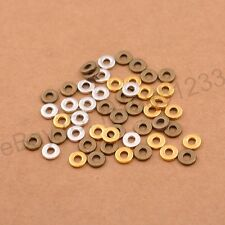 100Pcs Tibetan Silver/Gold/Bronze Rings Spacer Beads Jewelry Finding 6/8mm M3036