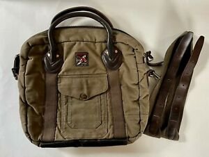 Polo Ralph Lauren Canvas and Leather Briefcase