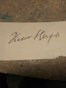 Autograph of -Victor Hugo. -