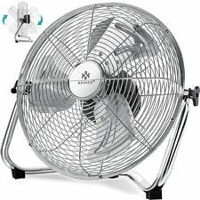 KESSER® Bodenventilator 30-50 cm Windmaschine Standventilator Ventilator Chrom