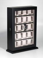 Rothenschild Uhrenvitrine RS-1100-20BL für 20 Uhren black