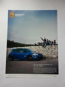 Renault Megane Renaultsport 225 Advert from 2006 - Original Ad Advertisement