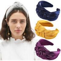Women Girls Tie Hair Accessories Knot Headband Hairband Wide Hair Band Hoop Side