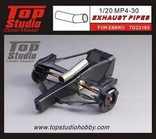 1/20 McLaren MP4/30 Honda Turned metal exhaust section Top Studio ~ TD23163