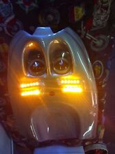 2 ROWS LEDS-GLOSS SILVER ABS PLASTIC HONDA CBR600 F4 99-00/F4I 04 UNDERTAIL-NEW