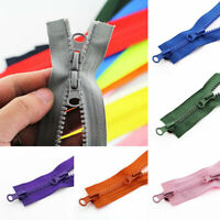 Chunky Open Ended Resin Zipper Double Slider DIY Sewing Jacket No.5 Access