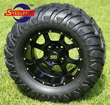 "GOLF CART 12"" NIGHT STALKER WHEELS and 22""x11""-12"" AT/MT TIRES (4) EXCLUSIVE"
