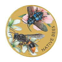 Tuvalu 2019 Australian Native Bees $1 Dollar Coloured UNC Coin Carded