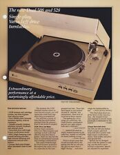 Dual 508, 528 Original Turntable Brochure