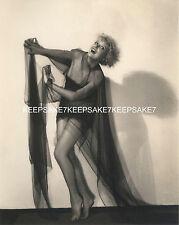 1920's ACTRESS MARY NOLAN PLAYFUL IN A SHEER NIGHTGOWN LEGGY 8 X 10 PHOTO A-MNOL