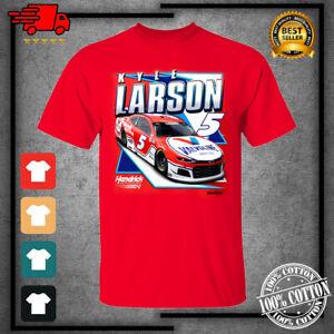 Men's 2021 #5 Kyle Larson Team Collection Valvoline Graphic Red T-Shirt