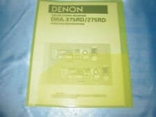 Denon DRA-375RD/275RD Receiver Bedienungsanleitung Gleichen Tag Versand