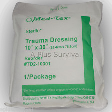 """Lot of 25 Multi Trauma Bandage Dressing 10"""" x 30"""" Sterile Extra Absorbent Triage"""