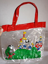 AMAZING VINTAGE 80'S THE SMURFS PLASTIC BAG #2 GREEK ULTRA RARE GREECE NEW !