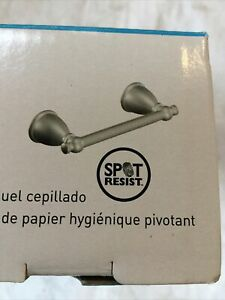 Moen Y3108BN Caldwell Pivoting Paper Holder, Spot Resistant Brushed Nickel NIB