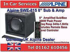 "Alpine SWE-815 coche 8"" Activo Amplificado Sub caja de Subwoofer caja 300W Compacto & Amp"