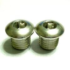 Aluminum Pivot Bolts, 10mm for Frame Brake Bolt Holes, Silver, C30
