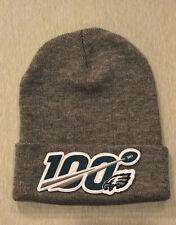 NFL 100 Seasons 100th Years PHILADELPHIA EAGLES NEW Toboggan Patch Style GRAY