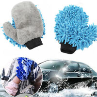 Car Wash Cloth Cleaning Mitt Glove Microfiber Soft Duster Washing Towel D