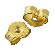 1Paar 333 Gelbgold Gegenstecker Ohrstecker Ohrstopper Loch 0,75mm Ohrmutter 4748