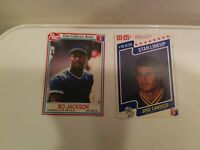 LOT OF 2 Baseball Cards 1990 Post #14 Jackson 1997 M&M's Star Lineup #10 Canseco