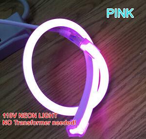 110V LED NEON Strip Light SMD Flexible For Window/Sign NO Transformer Needed! US
