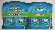16 WILKINSON SWORD Protector 3   Klingen, Rasierklingen