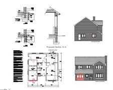 ** VENTE ** garage Conversion CAD plans - 2017 Planning & Building Regulations