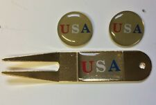 GOLF BALL MARKER and DIVOT TOOL SET USA MADE IN AMERICA