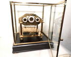Traditional Comitti Style William Congreve Rolling Ball Clock With Dome and Base