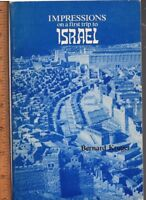 Impressions on a First Trip to Israel / Bernard Kruger   signed and inscribed
