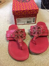 Women tory burch 6.5 slippers carnival amanda flat thong tumbled leather Sandals