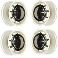 """ULTRALITE CLASSIC MINI WHEELS 10"""" x 4.5 WHITE COOPER S RIMS ALLOYS & CAPS Z3723"""