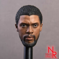 "NRTOYS 1/6 Black Panther 2.0 Head Sculpt Carved Male Figure for 12"" Action Doll"