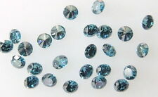 Natural Loose Diamonds Round Blue Color VS1 Clarity 0.90 to 1.70 MM 25 Pcs Q32