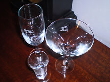 White Star Line, RMS Titanic, 3 Drink Glasses Party Set, 1912 Style Replica's