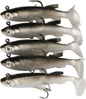 Goture Lead Jigs Soft Fishing Lures with Hook Sinking Swimbaits for Saltwater 5