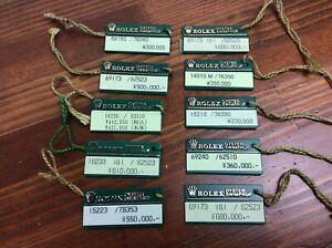 Rolex Oyster Swimpruf Green Hang Tag set of 10  + Free Post
