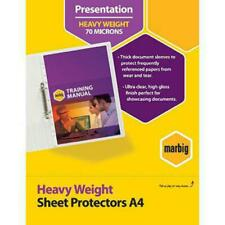 NEW 100x Marbig Sheet Protectors Heavyweight Heavy Duty A4 Sleeves