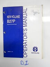 NEW HOLLAND B27P ROUND BALE SILAGE WRAPPER OPERATOR'S OWNER'S MANUAL 86607060